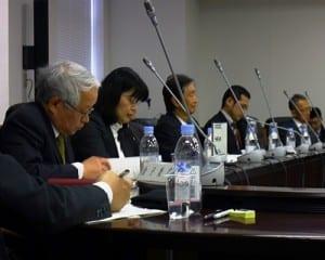 採点期間の例が示された高大接続会議