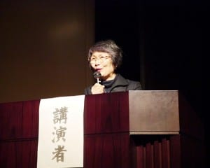 阿部敏子所長が子どもとの関わりを交えて提言した