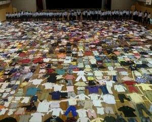 「『届けよう、服のチカラ』プロジェクト」で回収した子ども服