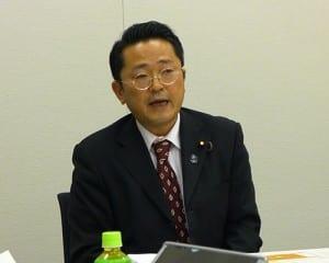 会合は非公開。終了後に、論議の内容が丹羽衆院議員から説明された