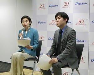 ネットトラブルの対策を提案する渡辺氏(左)と工藤氏(右)
