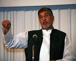 サティヤルティ氏は「教育に投資を」と各国に向けて訴えた