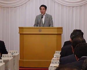 日本と教育の再生について熱く語る下村前文科相