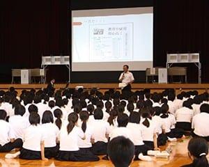 市長選を前に浮羽究真館高校で実施された模擬投票
