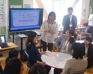 教師同士も参加型WSでESD研修