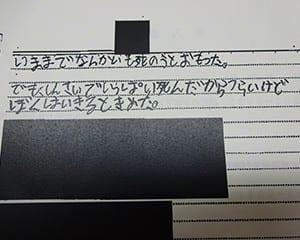 被害児童の手記から(個人情報など黒塗り)