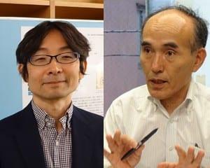 工藤論説委員(右)と大森准教授