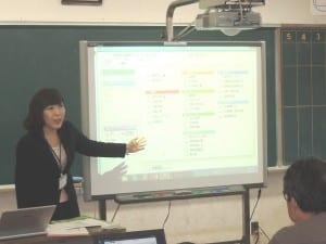 校務支援システムについて研修を受ける教員ら