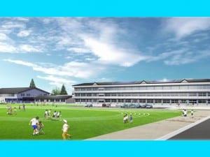 浪江町が発信している「新たな学校」の完成イメージ図