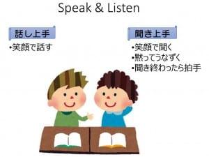 Speak&Listenのポイント