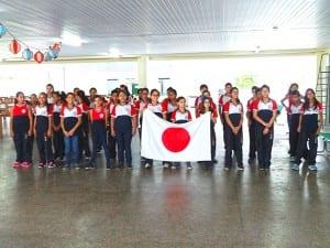 日本語を学習するブラジル小学校