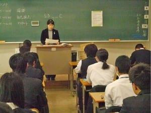 11月に実施されたプレテストの様子(11月13日、都立桜修館中等教育学校)