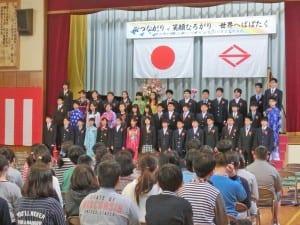 多文化国家日本の姿を垣間見るような本校の卒業式