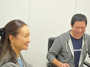 平川校長(左)と荒井校長