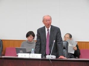 冒頭であいさつするWG主査の森田洋一鳴門教育大学特任教授