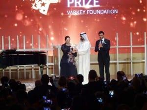 グローバル・ティーチャー賞の授賞式
